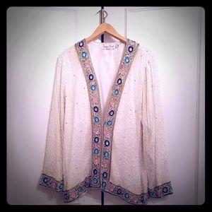 Laurence Kazar - New York - Silk beaded Jacket